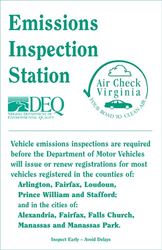 Emissions Inspections Virginia Department Of Motor