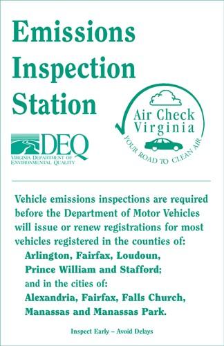 Emissions inspections virginia dmv autocars blog for Motor vehicle emissions test